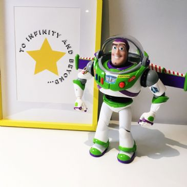 To infinity & beyond (A4 black & yellow)